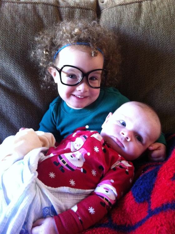 Gwen & Van Christmas Morning