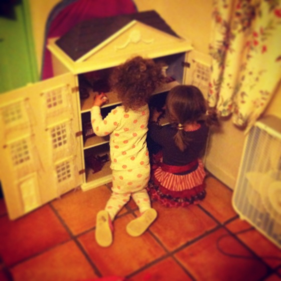 Gwen and Addy Playing House
