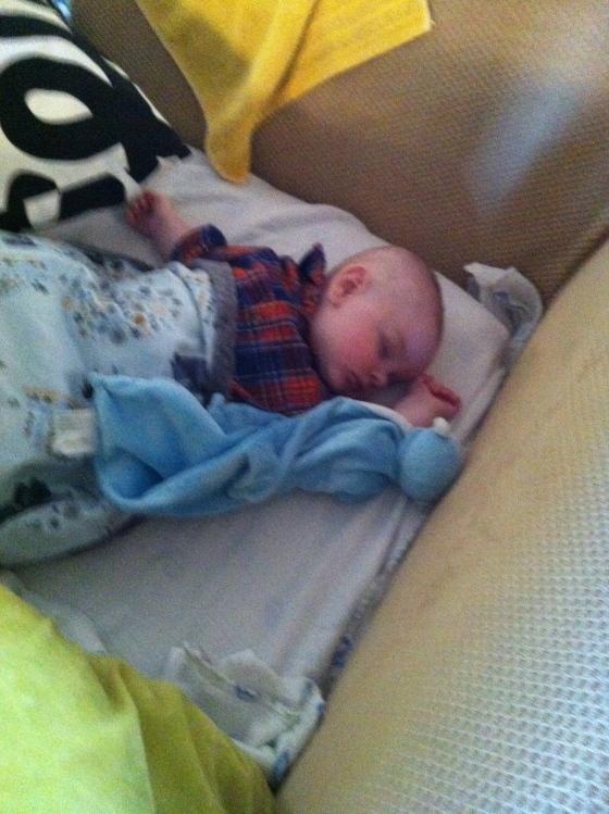 Van sleepign during the party
