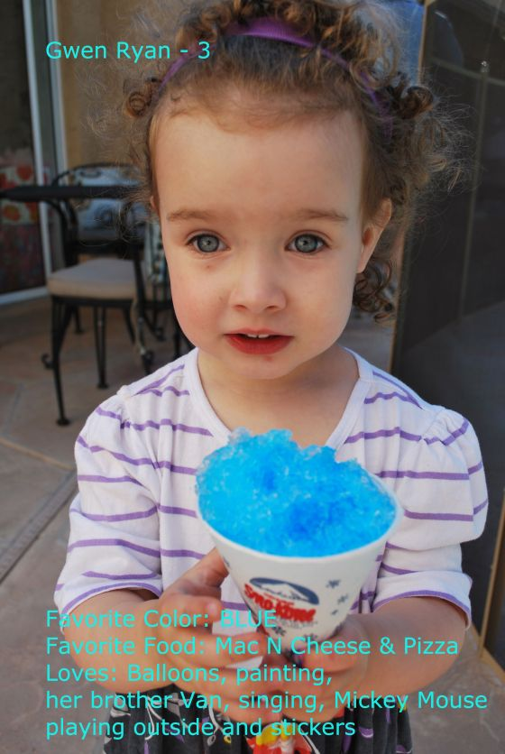 Gwen is Three